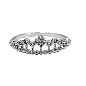 Fashion float crystal silver ring